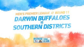Darwin Buffaloes vs Southern Districts: Round 11 - Men