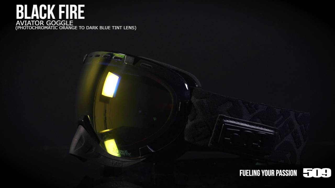 8464ecfbded6 509 Aviator Snow Goggle - Black Fire - YouTube