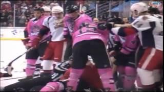 Массовая драка хоккеистов АХЛ