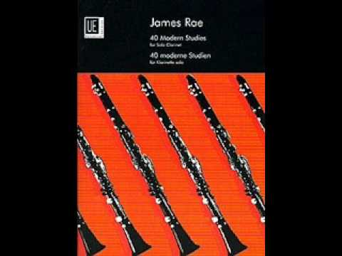 Movin' (No. 17) From James Rae-40 Modern Studies For Solo Clarinet