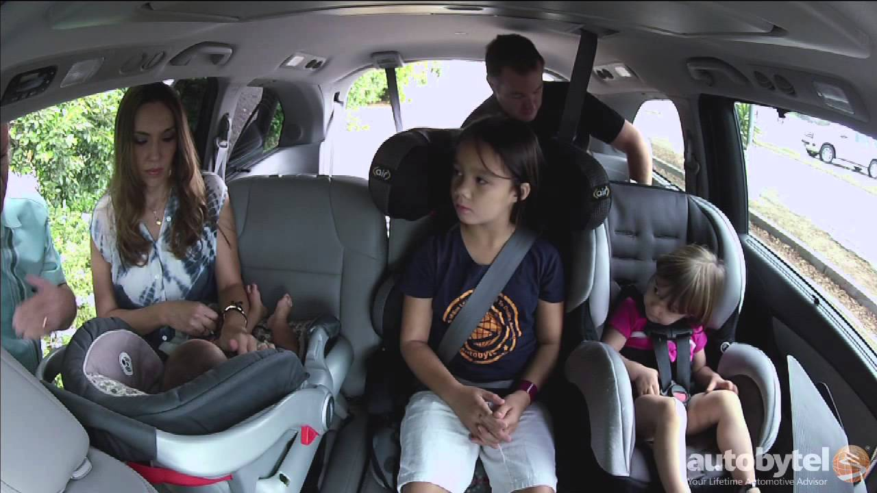 Fitting 3 Car Seats Across the Rear Seat  YouTube