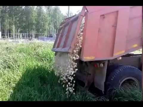 УралАвтоСтрой. Доставка щебня мраморного 20-40