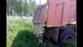 УралАвтоСтрой. Доставка щебня мраморного 20-40(, 2016-07-27T10:09:00.000Z)