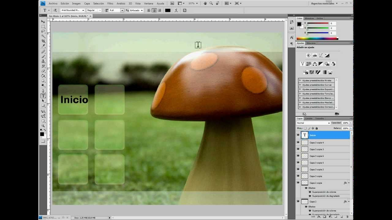 Tutorial Plantilla para página web en Photoshop - YouTube