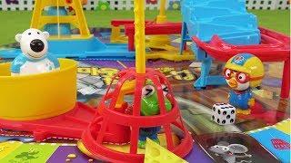 크롱 잡는 마우스 트랩 보드 게임! 치즈 늦게 모으면 무시무시한 벌칙이 기달린다~ ❤ 뽀로로 장난감 애니 ❤ Pororo Toy Video | 토이컴 Toycom