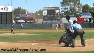 Blue Jays OF Anthony Gose vs. Padres LHP Nick Schmidt - Arizona Fall League 2011