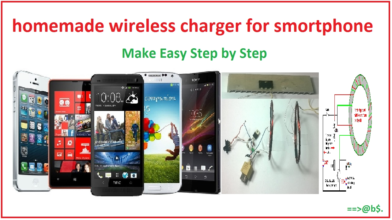 how to make wireless mobile charger at home easy with circuit diagram [ 1280 x 720 Pixel ]