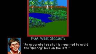 PGA Tour Golf II (SMD) PGA West Stadium fly by hole previews