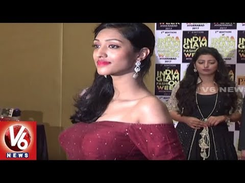 India Glam Fashion Week Brochure Launching Event Held in Hyderabad | V6 News