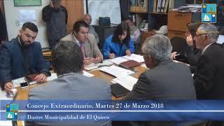 Concejo Extraordinario Martes 27 Marzo 2018