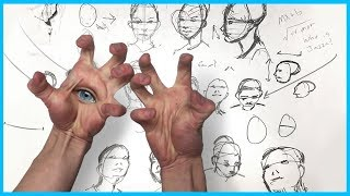How to Draw a Face - ANY ANGLE *trigger warning*