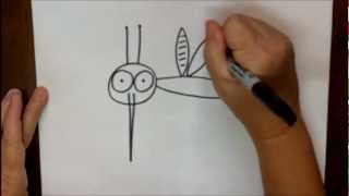 How To Draw A Mosquito Step By Step Beginning Cartoon Drawing Lesson