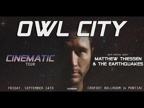 Owl City Concert [Cinematic Tour] Live!!