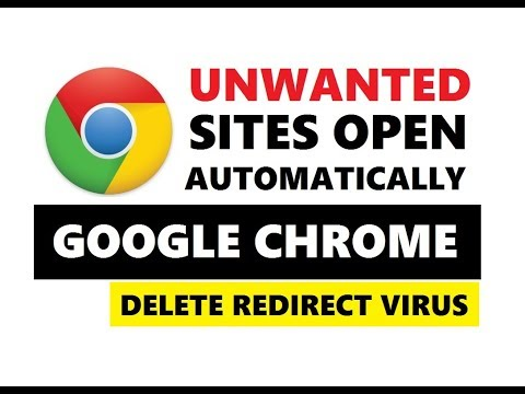 Unwanted sites open automatically in google chrome