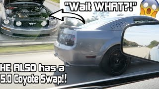 I Thought HE had a 3v! lol 5.0 Coyote swap VS Coyote Swap Mustang! *Couldn't Believe it!!*