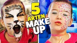 5 ARTEN MAKE-UP für Karneval 💄  Katze? Hase? Einhorn? Lulu & Leon - Family and Fun