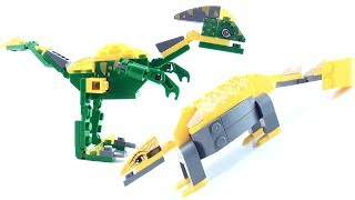 2 Lego Compatible Dinosaurs - Saurolophus Ankylosaurus - Dino Lego-Style Speed Build