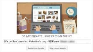 Google Doodle - Valentine