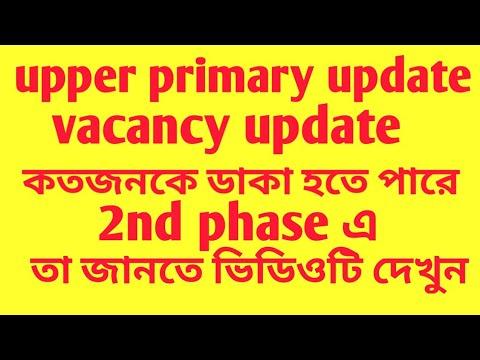 upper primary update/vacancy/ 2nd phase verification এ কত জন ডাক পাবে