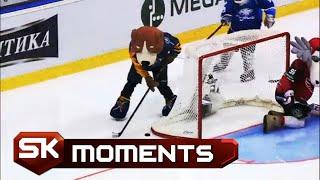 Maskote Zamenile Hokejaše na Ledu i Briljirale | SPORT KLUB Hokej