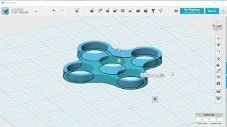 Make a 2 or 4 Arm Fidget Spinner using 123D Design