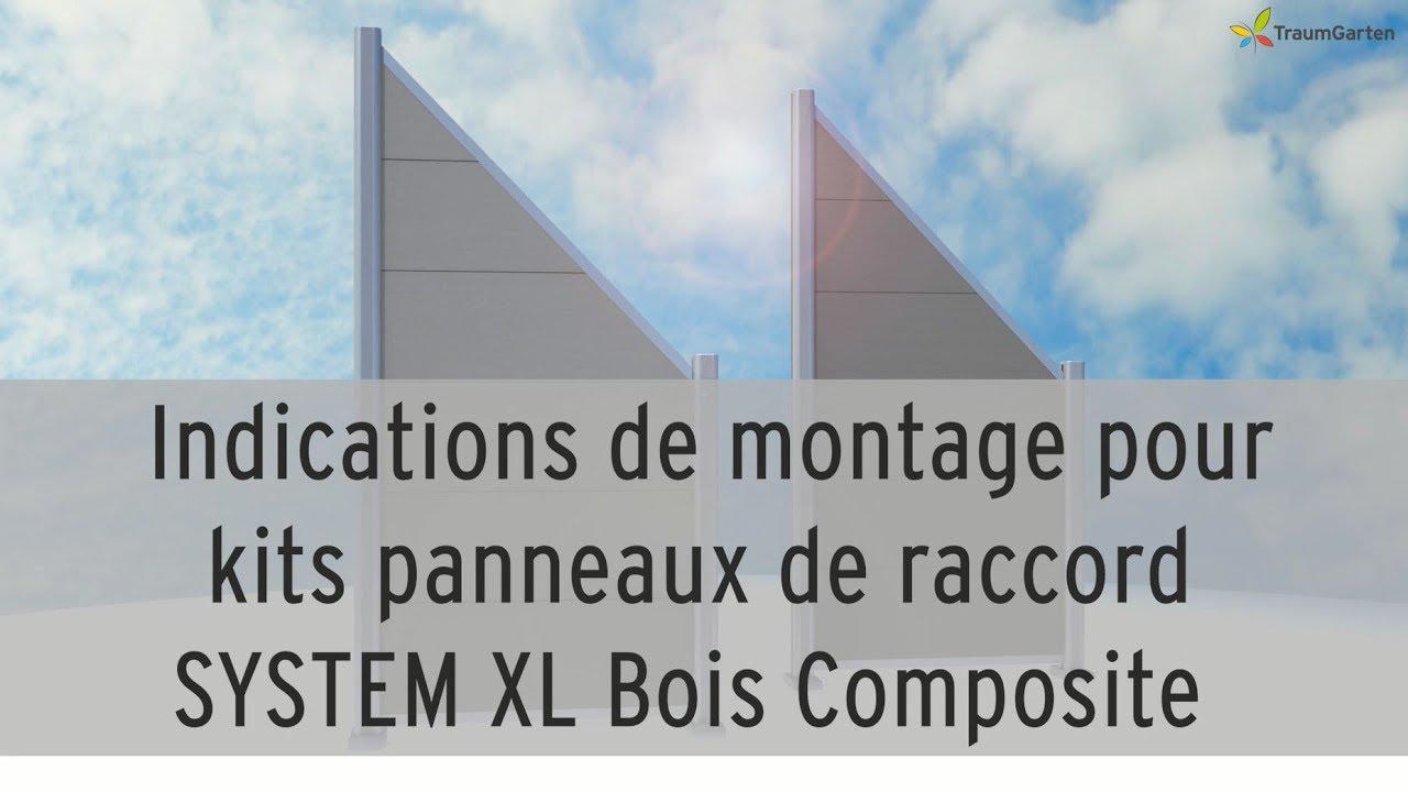 Bois Pour Brise Vue monter un brise-vue - system xl bois composite - panneaux de raccord |  traumgarten