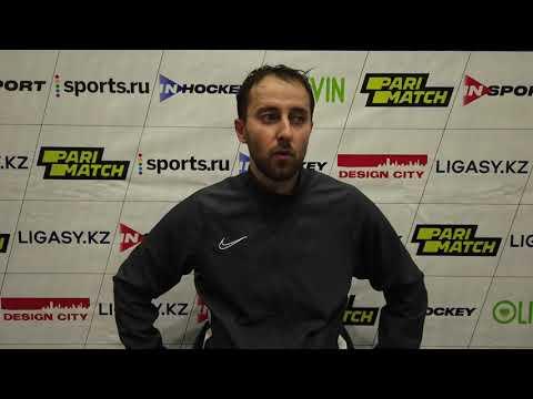 Послематчевые интервью игроков, Иван Полошков - Данила Карабань.
