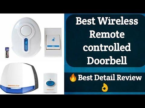 🔥 Smart Press fit doorbell | Best wireless remote control Door Bell Review 2019 👌