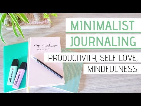 MINIMALIST JOURNAL IDEAS » ft. 6-Minute Diary (productivity, self love, mindfulness) thumbnail