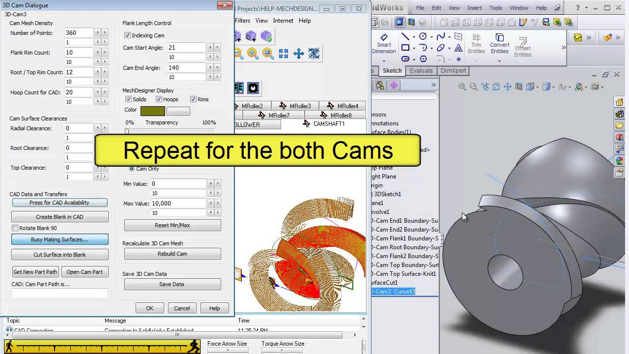 kinematics cam Me 321 – kinematics and dynamics of machines s lambert winter 2002 53 so that the displacement is: f b w b l s t l s s vdt = = = ∫ where f is the rotation of the cam, measured from the beginning of the segment.