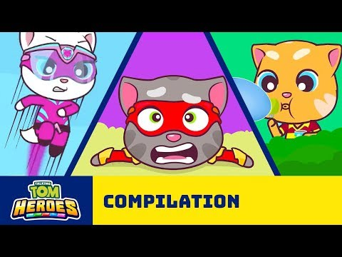 Talking Tom Heroes - The Adventure Begins (Cartoon Compilation)
