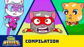 Talking Tom Heroes - The Adventure Begins (Cartoon Compilation)