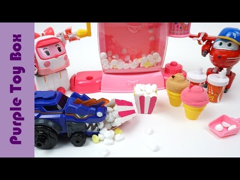 Thumbnail: Popcorn Maker Playset And Dinosaur Toys Dino Core Super Wings And Robocar Poli Toys