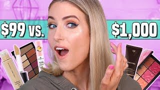 I Tried $1000 vs. $99 FULL FACE OF MAKEUP || Full Day Wear Test...