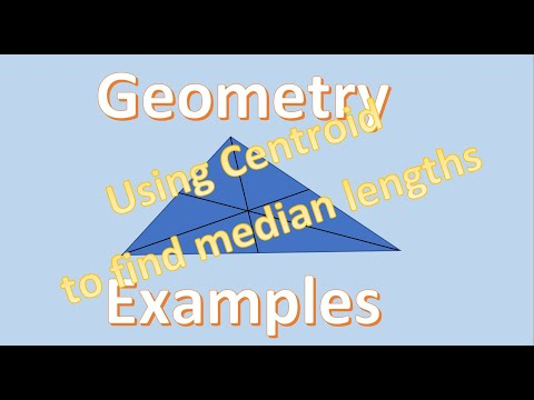 Geometry Examples Using the Centroid to Find Median
