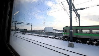 JR宗谷本線 旭川~旭川四条 車窓と車内風景 JR Sōya Main Line, Asahikawa Station to Asahikawa-Yojō Station (2020.1)