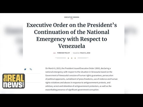 Violating International Law, Trump Renews Venezuela Sanctions