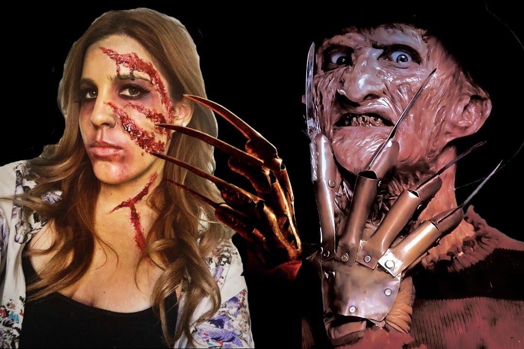 Freddy Krueger\'s Victim - Halloween Makeup Tutorial - YouTube