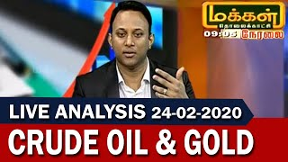 Crude and Gold Live Analysis 24 - 02 - 2020