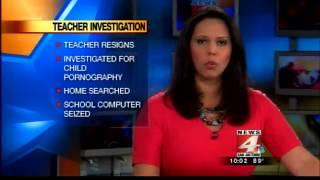 Teacher arrested for child porn resigns