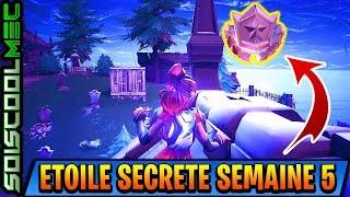 EMPLACEMENT ETOILE SECRÈTE SEMAINE 5! FORTNITE BATTLE ROYAL SAISON 5! TUTO DÉFI!