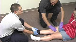 VAOEMS 7 of 9, Psychomotor Exam -- Immobilization Skills -- Traction Splint