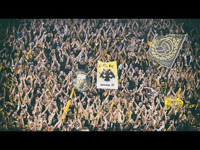 AEK - MOL Vidi Ultras AEK Crazy Support 28/08/2018 Champions League Play Off