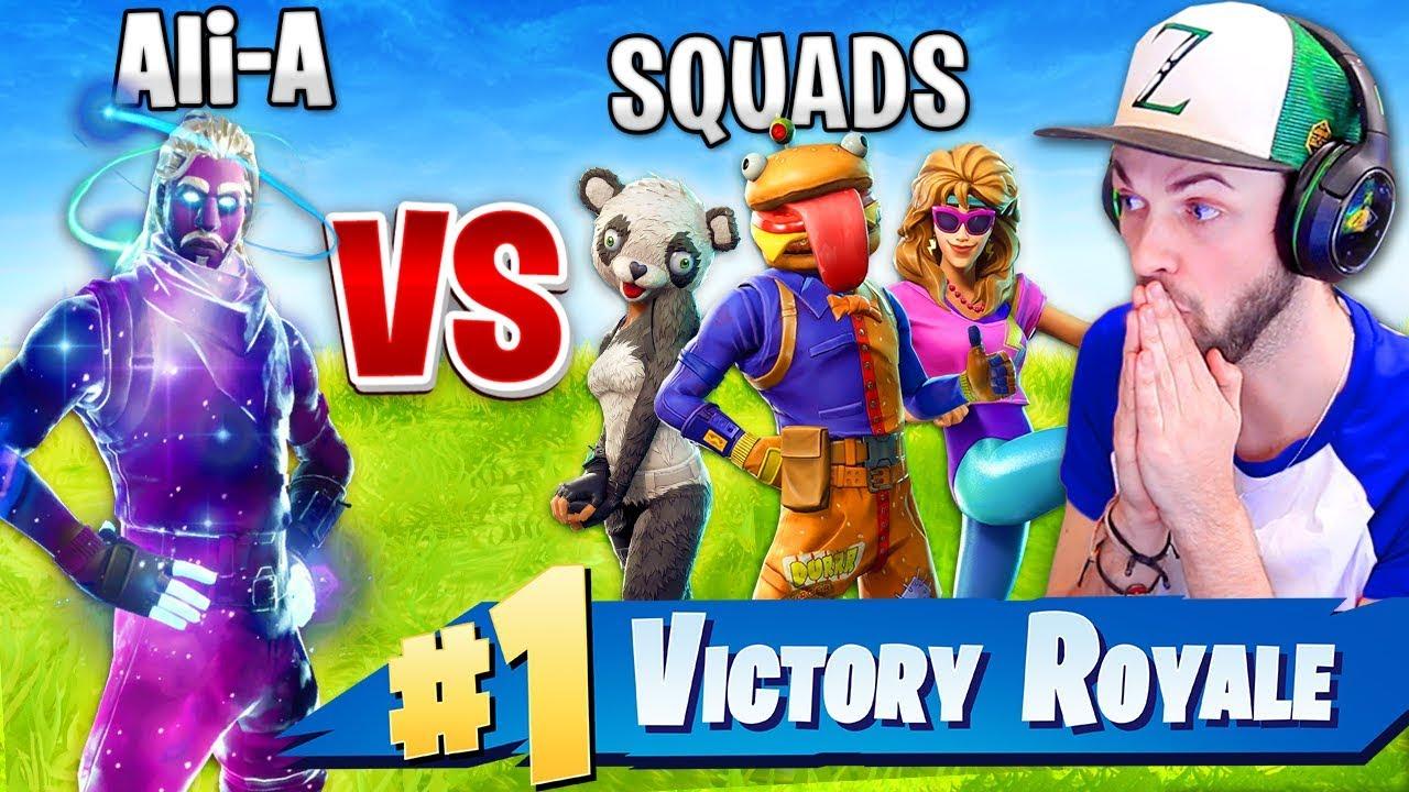 Ali-A - SOLO vs SQUADS - *NEW* MODE in Fortnite: Battle Royale!