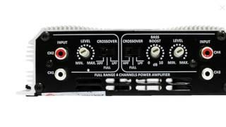 Regulagem detalhada de módulos amplificadores