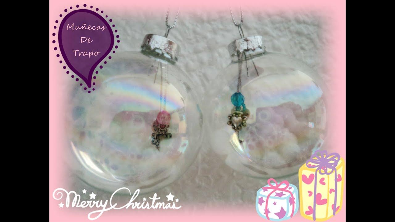 Idea para bola transparente navidad mu ecas de trapo - Bolas transparentes para decorar ...