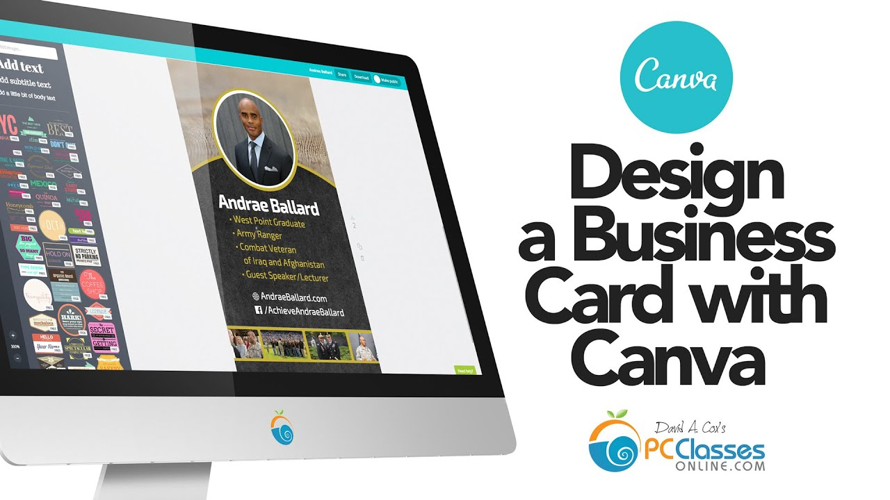 Design a Business Card Using Canva - YouTube