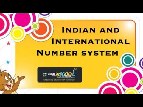 Indian numbering system