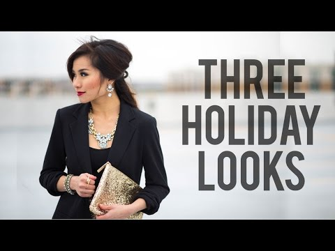 3 Holiday Looks   Christmas & New Year's Eve Outfit Ideas   Miss Louie