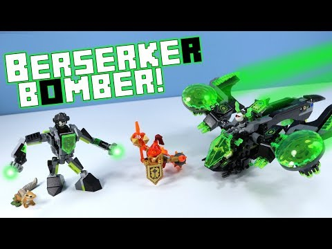 LEGO NEXO Knights 2018 Berserker Bomber 72003 Speed Build Review